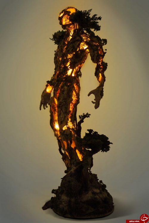 ساختن مجسمه با درخت
