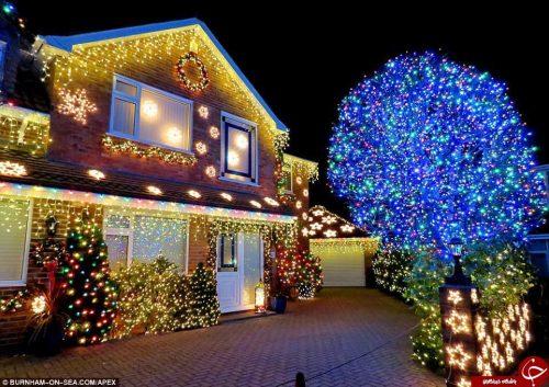 آذین بندی منازل در کریسمس