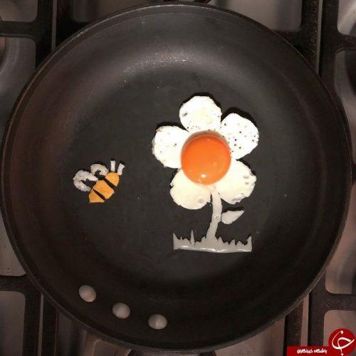 نقاشی با تخم مرغ