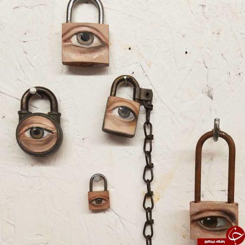 آثار هنری با وسایل دور ریختنی