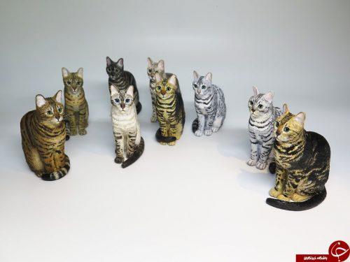 مجسمه گربه های مینیاتوری