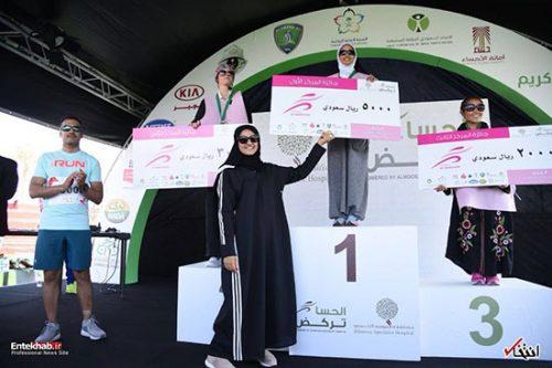 دوی ماراتن زنان در کشور عربستان