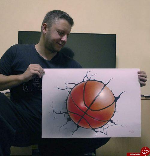 نقاشی های سه بعدی هنرمند صربستانی