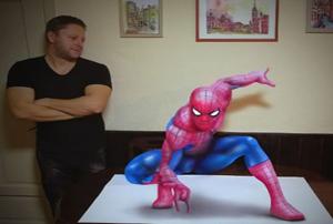 نقاشی های سه بعدی هنرمند صربستانی که با واقعیت مو نمی زنند!