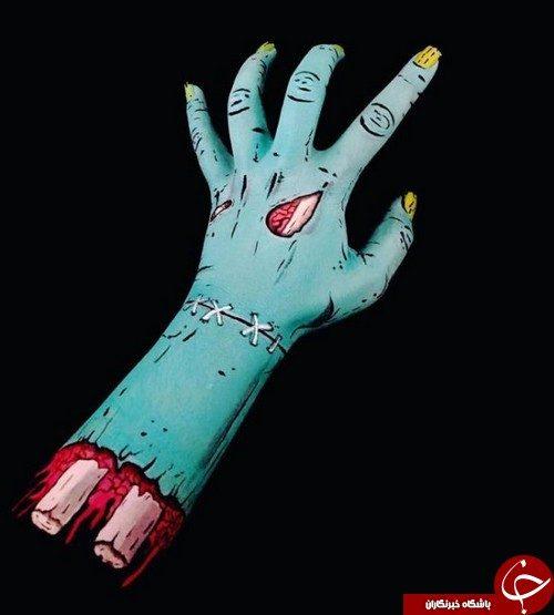 نقاشی های سه بعدی روی دست