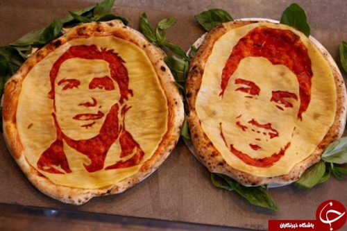 کریستیانو رونالدو و سوارز روی پیتزا