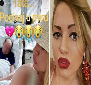 سلفی وحشتناک مدل لباس صربستانی با جسد پدرش!