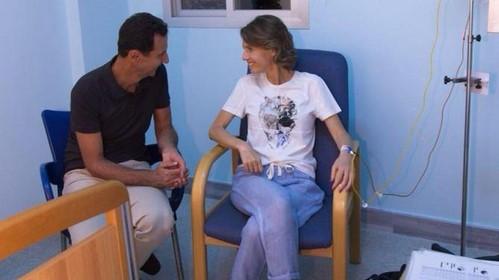 سرطان همسر بشار اسد