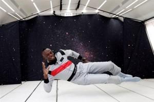 تمرین اوسین بولت مانند یک فضانورد!!!