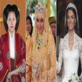 تصاویر لباس عروس خانواده های سلطنتی دنیا در روز عروسی شان