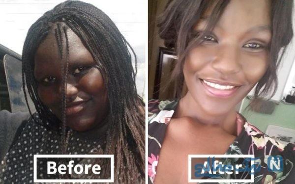چهره افراد بعد از لاغری