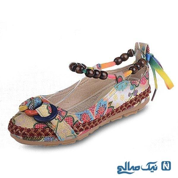 کفش جدید تابستانه زنانه در رنگ های جذاب هوای گرم