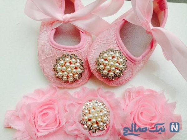 کفش نوزادی دخترانه مجلسی ، شیک و فانتزی برای مجالس