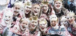 مراسم هیجانی و شاد جشن کف بازی در دانشگاه