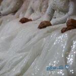 شرکت عروس های فلسطینی در یک همایش خشونت علیه زنان