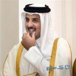 مادر امیر قطر جوان و شاداب در جمع تماشاگران یک مسابقه