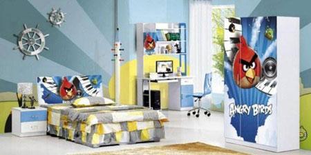 ست روتختی و کاغذ دیواری اتاق کودک +عکس
