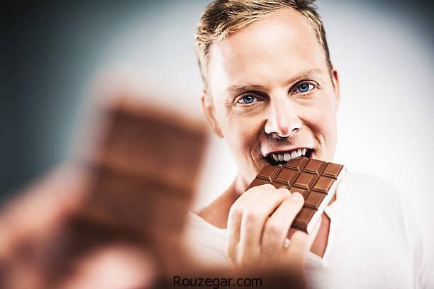 خواص شکلات تلخ برای قلب مردان