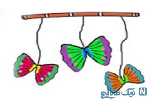 ساخت کاردستی پروانه های متحرک