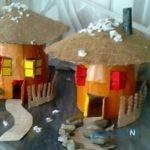 ساخت کاردستی دهکده زیبا با مقوا و کاغذ رنگی + تصاویر