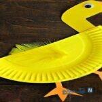 ساخت کاردستی اردک با بشقاب یکبار مصرف + تصاویر