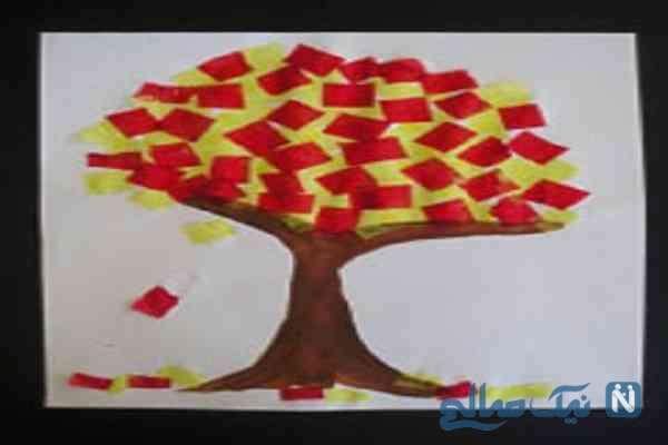ساخت کاردستی درخت پاییزی