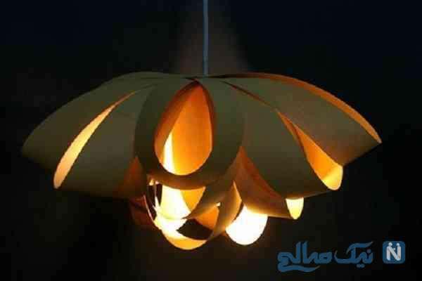 ساخت کاردستی لامپ آویز کاغذی