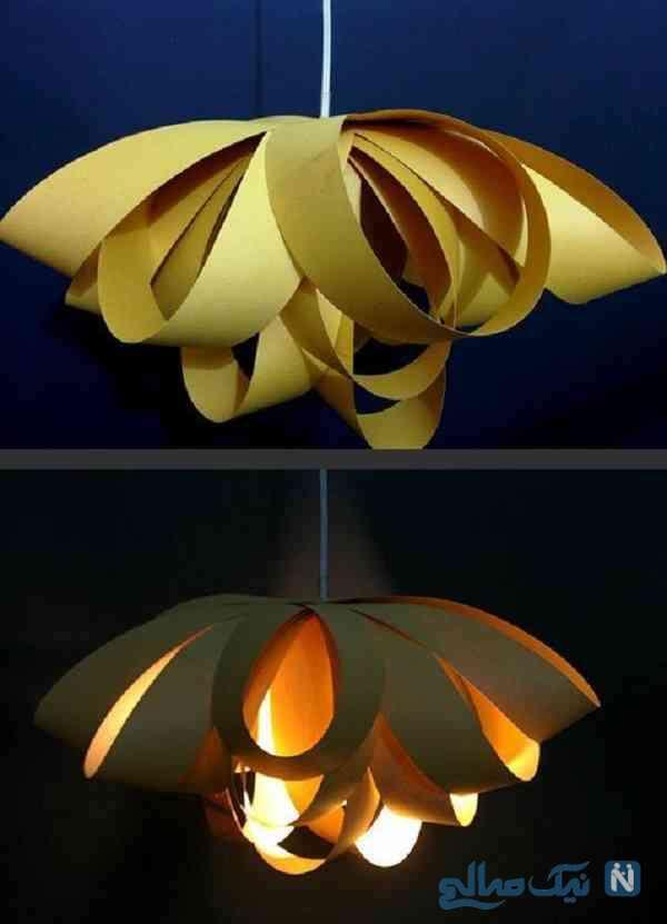 کاردستی لامپ کاغذی