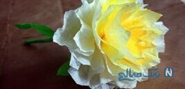 ساخت کاردستی گل با کاغذ کشی + تصاویر