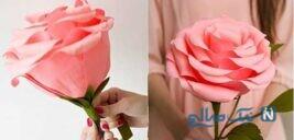 ساخت کاردستی گل رز + تصاویر