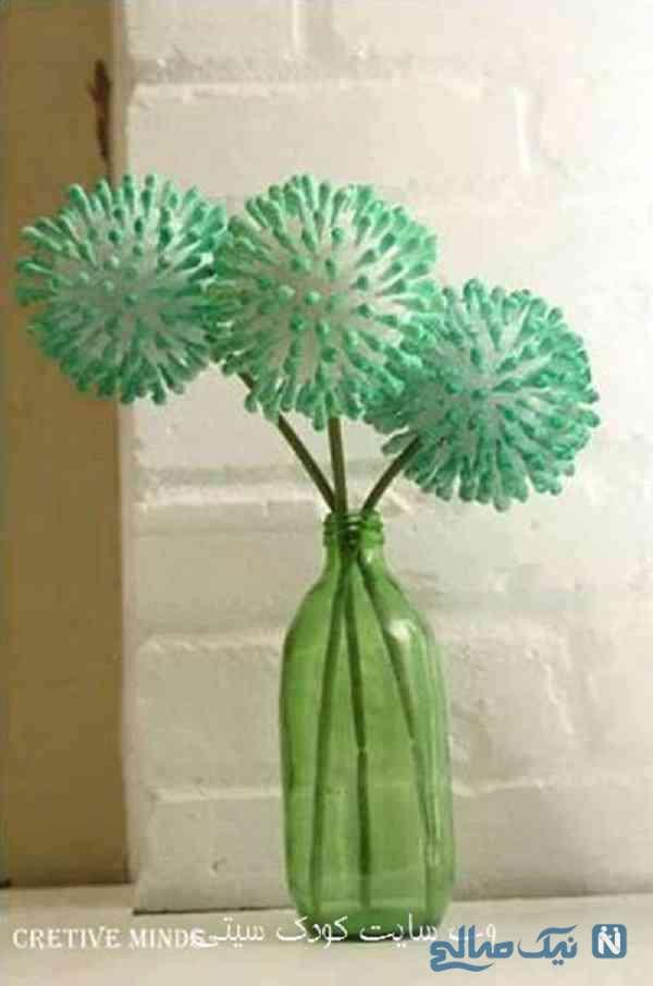 کاردستی گل با گوش پاک کن