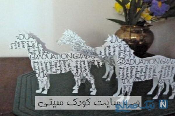 ساخت کاردستی سه بعدی اسب با روزنامه و مقوا + تصاویر