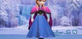 کاردستی عروسک کاغذی آنا در کارتون یخ زده