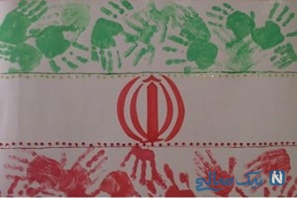 آموزش دو کاردستی خلاقانه برای پرچم و نقشه ایران + تصاویر