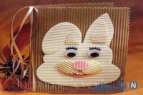 آموزش ساخت کارت پستال خرگوش