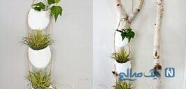 آموزش ساخت گلدان آویز با بطری پلاستیکی + تصاویر