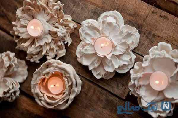 ساخت جاشمعی گل بسیار ساده با مواد دور ریختنی