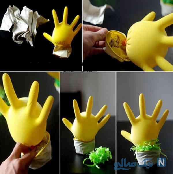 عروسک با دستکش
