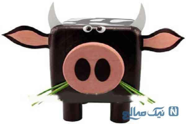 ساخت عروسک گاو برای کودکان بادورریختنی ها