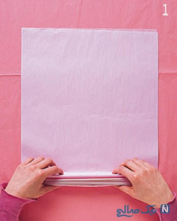 آموزش گل دستمال کاغذی
