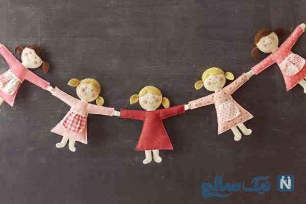 ساخت ریسه عروسکی بسیار زیبا و آسان برای اتاق کودک