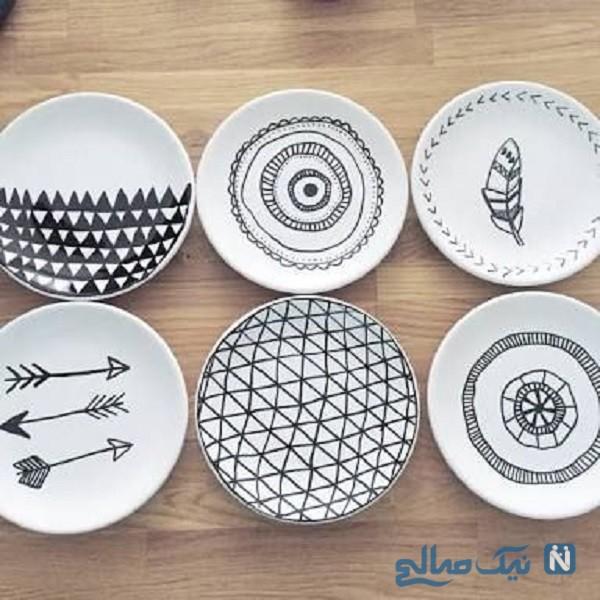 ظروف نقاشی شده
