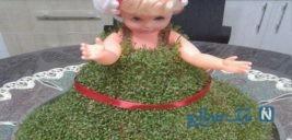آموزش ساخت سبزه زیبا به شکل عروسک+تصاویر