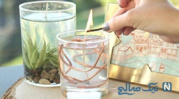 ساخت شمع زیبا