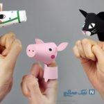 آموزش ساخت کاردستی حیوانات بند انگشتی+تصاویر