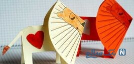 آموزش ساخت کاردستی شیر کاغذی بسیار ساده و جالب +تصاویر
