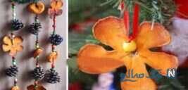 آموزش ساخت آویز بسیار ساده و جالب با پوست پرتقال +تصاویر