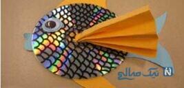 اموزش کاردستی ماهی بسیار زیبا با وسایل دورریختنی +تصاویر