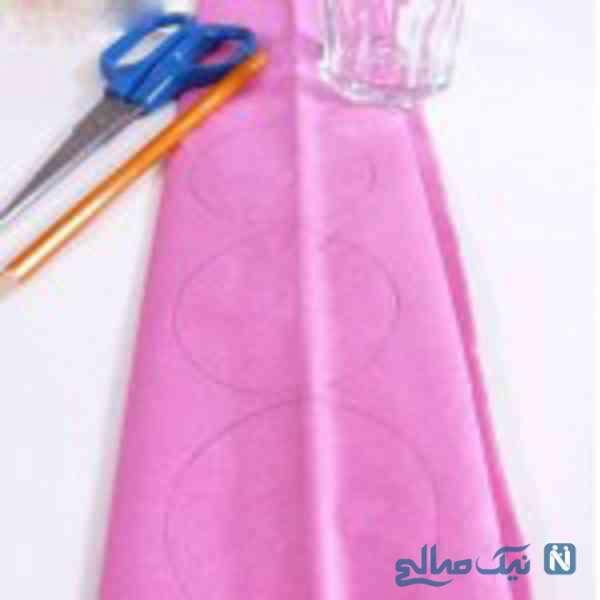 ساخت آویز گل کاغذی