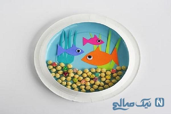 یک کاردستی آکواریوم ماهی با وسایل ساده درست کنید +تصاویر